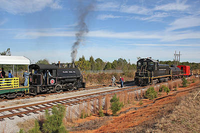 Photograph - Flagg Coal 0-4-0 75 by Joseph C Hinson Photography
