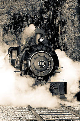 Flagg Coal Steam Engine Blow Out Art Print