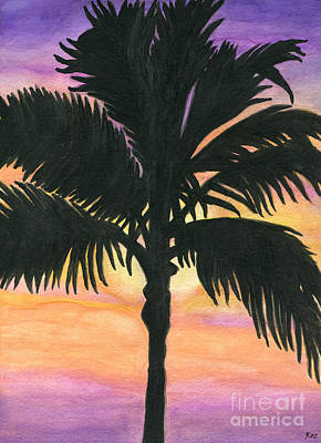 Painting - Flagler Beach Palm Tree by Roz Abellera
