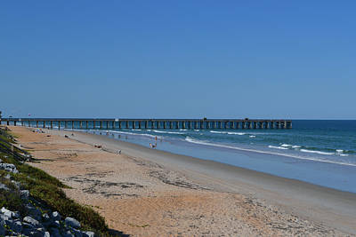 Photograph - Flagler Beach Pier Florida by rd Erickson