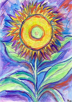 Painting - Flagler Beach Sunflower by Roz Abellera