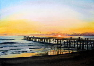 Painting - Flagler Beach Sunrise by Todd Derr
