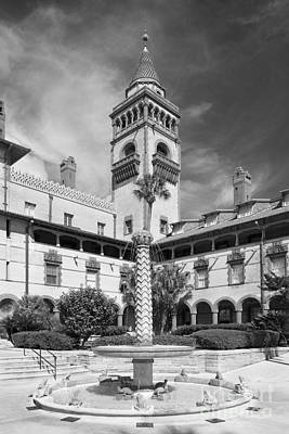 Photograph - Flagler College Courtyard Fountain by University Icons