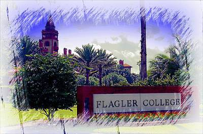 Photograph - Flagler College St Augustine by Bob Pardue