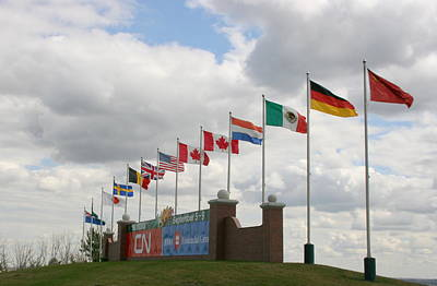 Photograph - Flags At Spruce Meadows by Betty-Anne McDonald