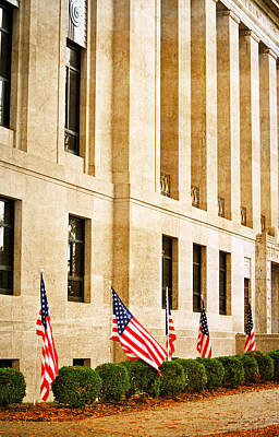 Photograph - Flags At The Courthouse by Linda Segerson