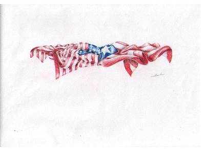 Puerto Rico Drawing - Flags by Garrett Wright