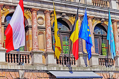 Photograph - Flags In Antwerp by Elvis Vaughn