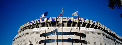 Yankee Stadium Photograph - Flags In Front Of A Stadium, Yankee by Panoramic Images