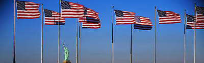 Liberation Photograph - Flags New York Ny by Panoramic Images