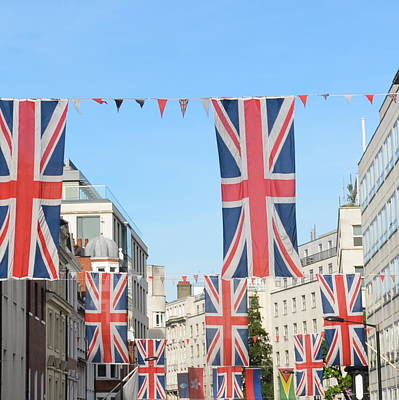 Photograph - Flags Of London by Cheryl Miller