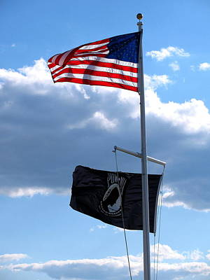 Black Is Beautiful Photograph - Flags Of The Brave by Colleen Kammerer