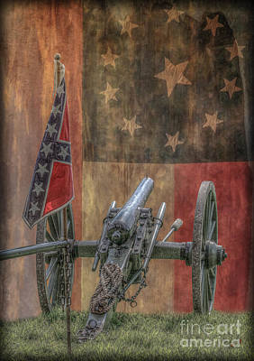 Flags Of The Confederacy Art Print by Randy Steele