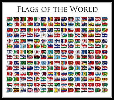 Flags Of The World Art Print