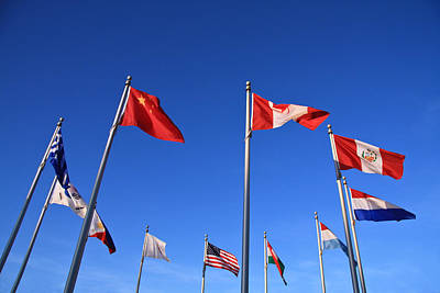 Photograph - Flags Of The World by Melinda Fawver