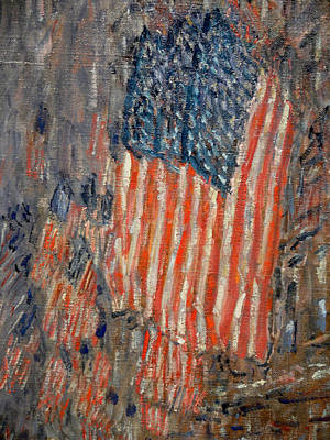 Old Glory Painting - Flags On The Waldorf by Childe Hassam