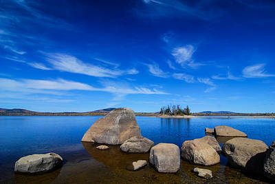 Photograph - Flagstaff Lake Maine by Michael Hubley