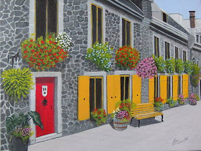 Wall Art - Painting - Flagstone Alley by Lisa MacDonald