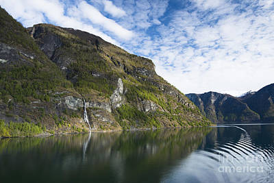 Norwegian Waterfall Photograph - Fabulous Fjord by Anne Gilbert