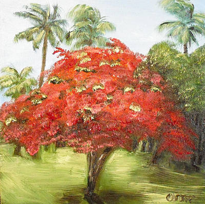 Flamboyan Tree Painting - Flamboyan by Melissa Torres