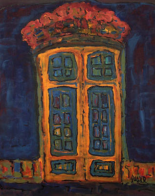 Painting - Flamboyant Door by Oscar Penalber