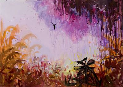 Abstract Wildlife Painting - Flamboyant Jungle 2 by Susie Hamilton