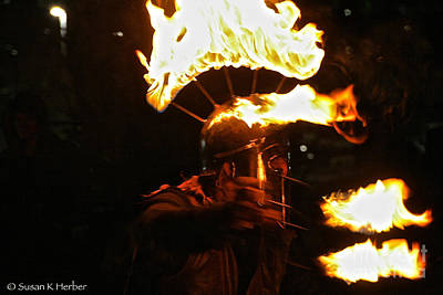 Photograph - Flame Handler by Susan Herber