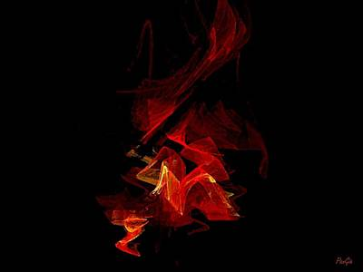 Digital Art - Flame by John Pangia