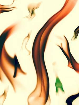 Flame Art Print by  Jeff Mantz Rhodes