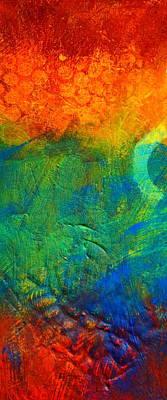 Spark Painting - Flame by Nancy Merkle