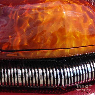 Photograph - Flame Rod 1 Squared by Chris Thomas