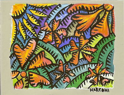 Painting - Flame Tree by Marconi Calindas
