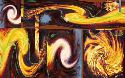 Painting - Flame Tricks by Anne Cameron Cutri