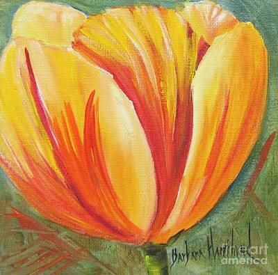 Flame Tulip By Barbara Haviland Art Print