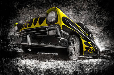 Flamed Chevrolet Bel Air Art Print by motography aka Phil Clark
