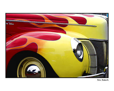 Photograph - Flamed Ford by Ron Roberts