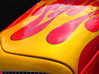 Photograph - Flamed Paint Job by Ron Roberts