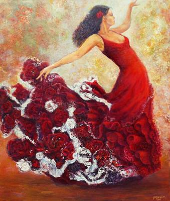 Painting - Flamenco 1 by Sylva Zalmanson