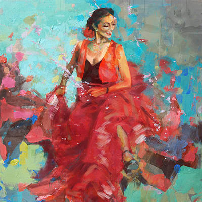 Painting - Flamenco 40 by Maryam Mughal