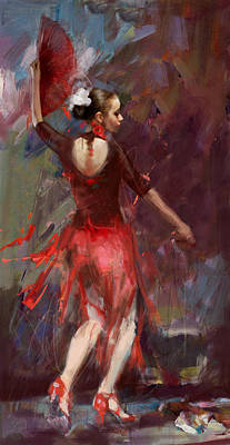 Afremov Painting - Flamenco 52 by Maryam Mughal