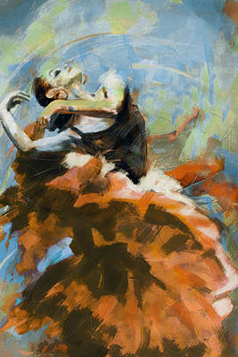 Painting - Flamenco 54 by Maryam Mughal