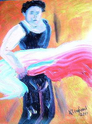 Painting - Flamenco Anyone? 2 by Richard W Linford