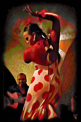 Flamenco Print by  Fli Art