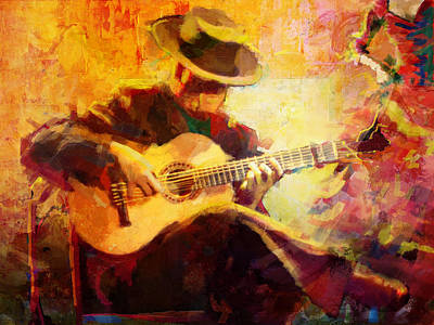 Spain Painting - Flamenco Dancer 028 by Catf
