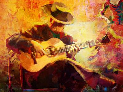 Flamenco Dancer 028 Print by Catf