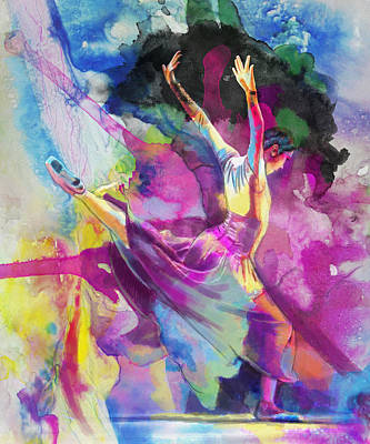 Jazz Painting Royalty Free Images - Flamenco Dancer Royalty-Free Image by Catf