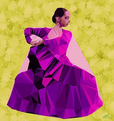 Kids Cartoons - Flamenco Dancer in Spain by Bruce Nutting