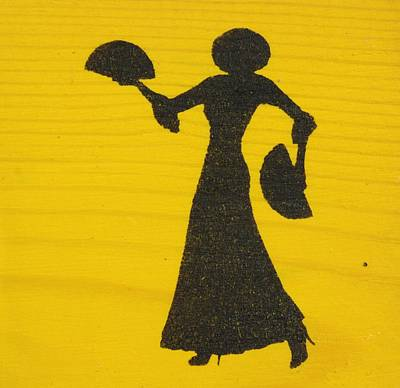 Flamenco Dancer On Yellow Original