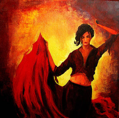 Spanish Dancer Painting - Flamenco Dancer by Patricia Awapara