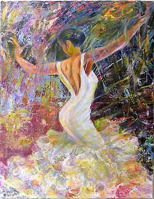 Painting - Flamenco Dancer by Sylva Zalmanson